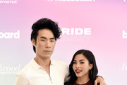 (L-R) Eugene Lee Yang and Anna Akana attend the Billboard And The Hollywood Reporter Pride Summit on August 08, 2019 in West Hollywood, California.
