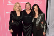(L-R) Lisa Barbaris, Lynn Oliver-Cline, and Leslie Fram attend Billboard Women In Music 2019, presented by YouTube Music, on December 12, 2019 in Los Angeles, California.