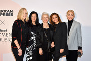 (L-R) Lisa Barbaris, Leslie Fram, Marsha Vlasic, Ali Harnell, and Jacqueline Saturn attend the Billboard x Amex Impact Brunch on December 12, 2019 at The West Hollywood EDITION in West Hollywood, California.