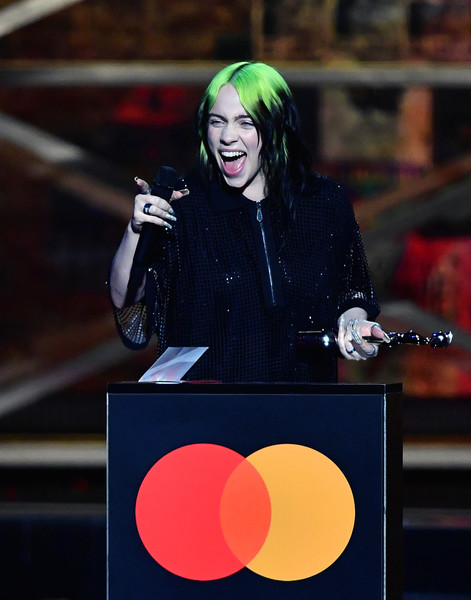 Image result for billie brit awards 2020