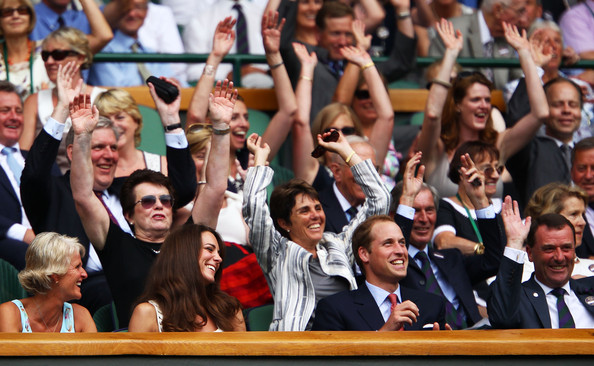 Celebrities Attend The Championships - Wimbledon 2011: Day Seven