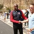 Carl Lewis and Billy Bush Photos