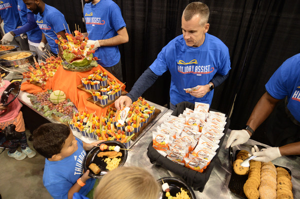 2017-18 NBA Community Events [community,food,selling,street food,dish,cuisine,meal,billy donovan,coaches,staff,players,nbae,note,nba,oklahoma city thunder,community events,event]