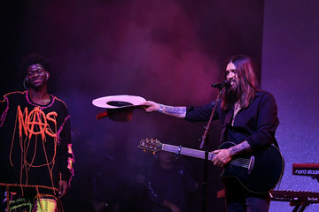 """Billy Ray Cyrus Lil Nas X Spotify Hosts """"Best New Artist"""" Party At The Lot Studios - Inside"""