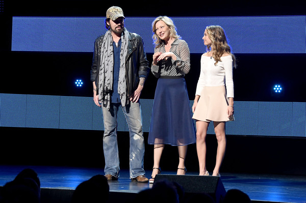 2016 Viacom Kids and Family Group Upfront [performance,entertainment,performing arts,fashion,event,public event,stage,heater,fashion design,talent show,billy ray cyrus,joey lauren adams,madison iseman,l-r,new york city,viacom kids and family group,viacom kids and family group upfront]