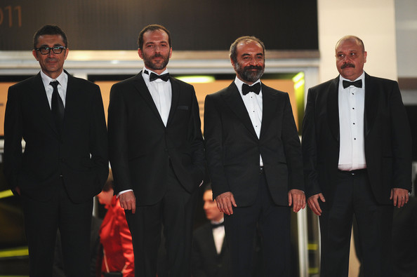 "Director Nuri Bilge Ceylan and actors Muhammet Uzuner, Yilmaz Erdogan, and Ahmet Mumtaz Taylan attends the ""Bir Zamanlar Anadolu'Da"" Premiere at Palais des Festivals during the 64th Annual Cannes Film Festival on May 21, 2011 in Cannes, France."