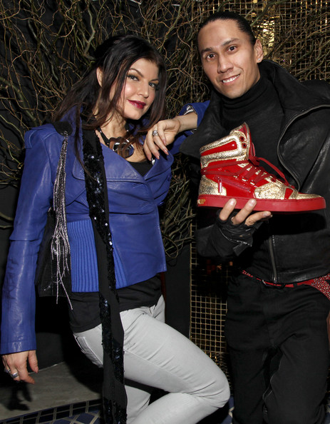 Fergie (L) and Taboo of The Black Eyed Peas attend the Jump Footwear Launch TABOOXJUMP at Juliet on November 12, 2009 in New York City.