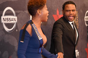 Taraji P. Henson (L) and Anthony Anderson attend Black Girls Rock! 2017 at NJPAC on August 5, 2017 in Newark, New Jersey.
