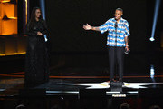 Ava DuVernay and Lena Waithe speak onstage during the Black Girls Rock! 2018 Show at NJPAC on August 26, 2018 in Newark, New Jersey.