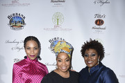 Kelly McCreary, Kimberly Hebert Gregory and Tamela Aldridge attend The Black Rebirth 1st Annual Fundraiser at Nate Holden Performing Arts Center on January 18, 2020 in Los Angeles, California.  (Photo by Vivien Killilea/Getty Images for The Black Rebirth Collective (BRC))