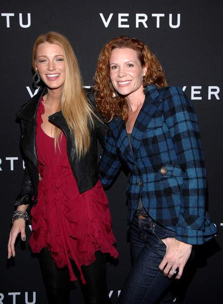 Blake Lively Actress Blake Lively (L) and Robin Lively (R) attend the launch of Vertu's smartphone at Berry Hill Galleries on October 20, 2010 in New York City.