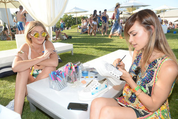 Blanda Eggenschwiler LACOSTE Beautiful Desert Pool Party - Day 2