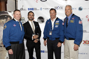 (L-R) Astronaut Ken Ham, David Mortiz, astronaut Michael Lopez-Alegria, and astronaut Mike Massimino attend Blast Off: The Future of Spaceflight at The Explorers Club on May 1, 2014 in New York City.