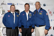 (L-R) Astronauts Ken Ham, Michael Lopez-Alegria, and Mike Massimino attend Blast Off: The Future of Spaceflight at The Explorers Club on May 1, 2014 in New York City.