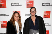Courtney Crangi (L) and Jenna Lyons attend Bloomberg Businessweek's 85th anniversary celebration at the American Museum of Natural History on December 4, 2014 in New York City.