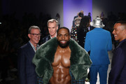 Yusuf Myers walks the runway at The Blue Jacket Fashion Show during NYFW at Pier 59 Studios on February 05, 2020 in New York City.
