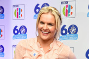 Katy Hill attends the 'Blue Peter Big Birthday' celebration at BBC Philharmonic Studio on October 16, 2018 in Manchester, England.