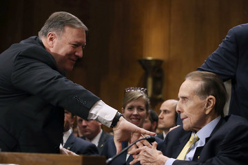 Bob Dole Senate Holds Confirmation Hearing For Mike Pompeo To Be Secretary Of State