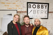 (L-R) Betty Who, Bobby Berk and Parson James attend the Bobby Berk's A.R.T. Furniture Launch Event on November 05, 2019 in Los Angeles, California.