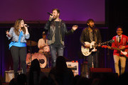 Hillary Scott, Charles Kelley and Dave Haywood of the band Lady Antebellum, and Bobby Bones perform at the Bobby Bones And The Raging Idiots 4th Annual Million Dollar Show at the Ryman Auditorium on January 14, 2019 in Nashville, Tennessee.