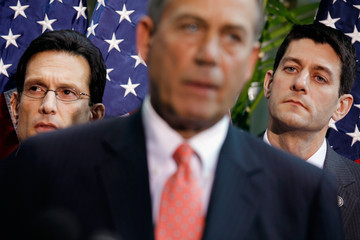 Eric Cantor Paul Ryan Boehner, Cantor, GOP Leaders Brief Media After Republican Conference Meeting