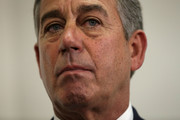 U.S. Speaker of the House Rep. John Boehner (R-OH) listens during a news briefing after a House Republican Caucus meeting October 27, 2015 at the Capitol in Washington, DC. Congressional leaders had reached to an agreement with the White House to raise domestic and defense spending and lift the debt limit until March 2017.