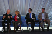 (L-R) Florida Gov. Rick Scott (L) sits with Rep. Ileana Ros-Lehtinen (R-FL), Rep. Mario Diaz-Balart (R-FL) and Rep. Joe Garcia (D-FL) at the grand opening of the main North American training campus for Boeing that includes full-flight simulators for the 787 Dreamliner on August 29, 2013 in Miami, Florida.  Boeing officials say the Miami campus will be one of the largest airline training centers in the world.