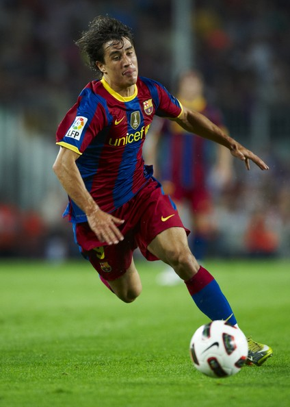 Bojan Krkic Bojan Krkic of FC Barcelona runs with the ball during the La Liga match between Barcelona and Sporting de Gijon at Nou Camp on September 22, 2010 in Barcelona, Spain. Barcelona won 1-0.