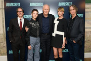 """(L-R) Charles Randolph, Brigette Lundy-Paine, John Lithgow, Charlize Theron and Jay Roach attend the """"Bombshell"""" New York Screening on October 20, 2019 in New York City."""