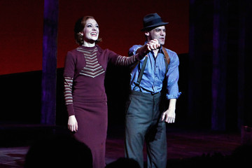 """Laura Osnes Jeremy Jordan """"Bonnie & Clyde"""" Broadway Opening Night - Arrivals & Curtain Call"""