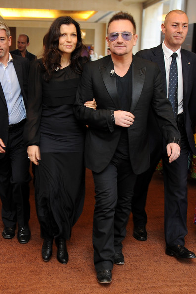 Bono Alison Hewson and Bono arrive for the third day of the 2012 International Herald Tribune's Luxury Business Conference held at Rome Cavalieri on November 16, 2012 in Rome, Italy. The 12th annual IHT Luxury conference is the premier meeting point for the luxury industry. 500 delegates from 30 countries have gathered in Rome to hear from the world's most inspirational fashion designers and luxury business leaders.