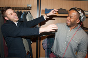 Will White and Andre Smith having fun during Bonobos Buckhead Guideshop Launch Party on December 11, 2014 in Atlanta, Georgia.