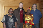 (L-R) Fidel Bafilemba, Ryan Gosling, Chouchou Namegabe and John Prendergast attend the discussion and signing for 'Congo Stories' at The West Hollywood Library on December 10, 2018 in West Hollywood, California.