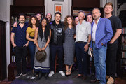 (L-R) Daniel Sauli, Sepideh Moafi, guest, Dominique Fishback, Chris Bauer, James Franco, Margarita Levieva, Housing Works Board Members Michael Gordon and E. O'Brien Kelley, Michael Rispoli, Executive Producer George Pelecanos and Housing Works Board Member Lisle Richards attend 'An Evening with the Cast of HBO's The Deuce' at Housing Works Bookstore Cafe on June 23, 2019 in New York City.