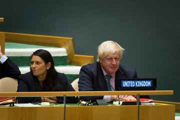 Boris Johnson World Leaders Address Annual United Nations General Assembly
