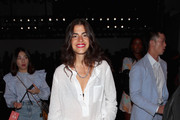 Leandra Medine attends the Bosideng front Row during New York Fashion Week: The Shows at Gallery I at Spring Studios on September 11, 2018 in New York City.