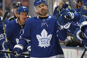 Tomas Plekanec #19 of the Toronto Maple Leafs celebrates a goal against the Boston Bruins in Game Six of the Eastern Conference First Round in the 2018 Stanley Cup Play-offs at the Air Canada Centre on April 23, 2018 in Toronto, Ontario, Canada. The Maple Leafs defeated the Bruins 3-1.