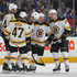 Brad Marchand Photos - Brad Marchand #63 of the Boston Bruins celebrates a goal against the Toronto Maple Leafs in Game Four of the Eastern Conference First Round in the 2018 Stanley Cup play-offs at the Air Canada Centre on April 19, 2018 in Toronto, Ontario, Canada. The Bruins defeated the Maple Leafs 3-1. - Boston Bruins vs. Toronto Maple Leafs - Game Four