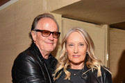 """Peter Fonda (L) and Margaret DeVogelaere attend the """"Boundaries"""" New York screening after party at The Roxy Cinema on June 11, 2018 in New York City."""