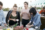 (L-R) Christina Dugan, Antoni Porowski and Melody Chiu as Boursin and Antoni Porowski Host Farm Fresh Fete Entertaining Evening at a Private Residence on April 24, 2019 in Los Angeles, California.