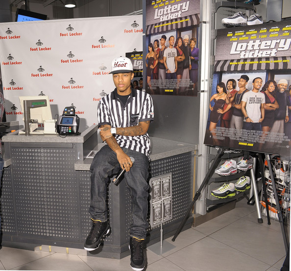 "Bow Wow Rapper and actor Bow Wow promotes ""Lottery Ticket"" at Foot Locker,"