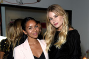 (L-R) Tori Praver and Lizzy Mathis attend the Box of Style By Rachel Zoe Female Founders Dinner at The AllBright West Hollywood on October 03, 2019 in West Hollywood, California.