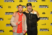 "Lance Bass and Joey Fatone attend the ""The Boy Band Con: The Lou Pearlman Story"" Premiere - 2019 SXSW Conference and Festivals at Paramount Theatre on March 13, 2019 in Austin, Texas."
