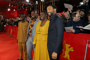 "(L-R) Actor Maxwell Simba, author William Kamkwamba, actress Aissa Maiga and director Chiwetel Ejiofor attend the premiere for the screening of the Netflix film ""The Boy Who Harnessed The Wind"" during the 69th Berlinale International Film Festival Berlin at Friedrichstadtpalast on February 12, 2019 in Berlin, Germany."