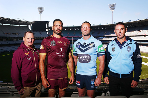 State Of Origin Media Opportunity [team,crew,championship,competition event,stadium,recreation,sports,competition,player,sport venue,greg inglis,kevin walters,brad fittler,boyd cordner,origin media opportunity,state,melbourne cricket ground,queensland maroons,new south wales blues,l]