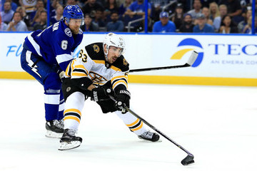 Brad Marchand Boston Bruins Vs. Tampa Bay Lightning - Game Two