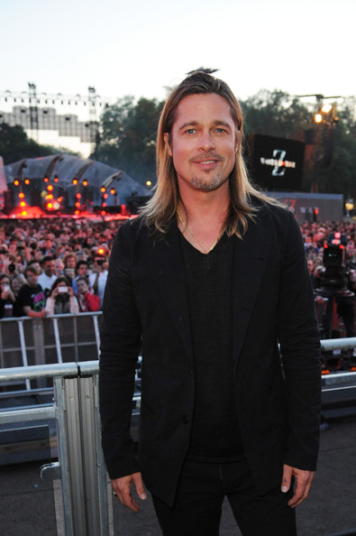 Brad Pitt (NO CALENDAR, NO BIOGRAPHIES, NO PUBLICATIONS DEVOTED SOLEY TO MUSE) Brad Pitt attends the Muse performance at the 'World War Z' World Premiere at Horse Guards Parade on June 2, 2013 in London, England.