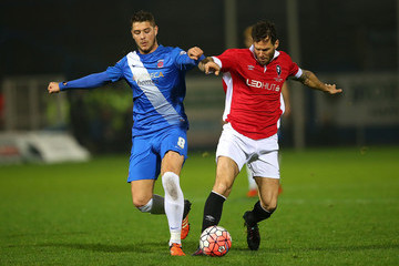 Brad Walker Gareth Seddon Hartlepool United v Salford City - the Emirates FA Cup Second Round Replay