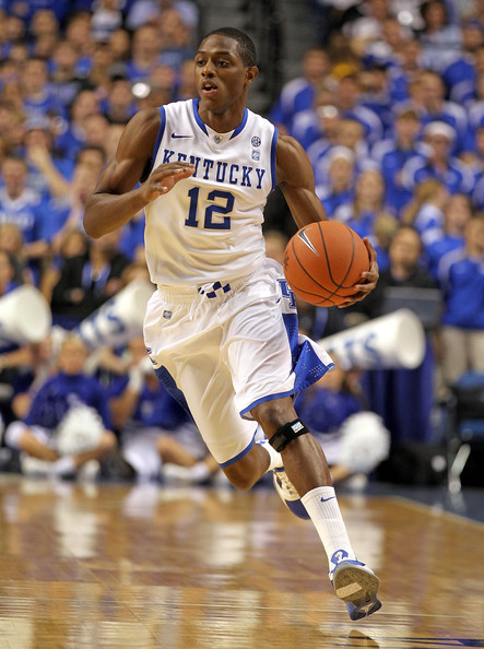 Brandon Knight Brandon Knight #12 of the Kentucky Wildcats dribbles the ball during the game against East Tennessee State Buccaneers at Rupp Arena on November 12, 2010 in Lexington, Kentucky.
