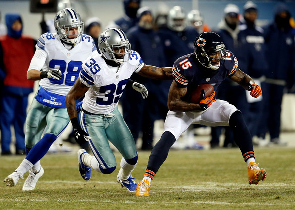 Cowboys during a game at Soldier Field on December 9, 2013 in Chicago